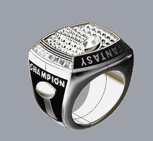 G-J Champion Ring Fan High-End Kollektion Ring Fans Geschenk Dekorationsring, Silber, Nummer 13, Silber, Nummer 10