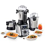 Hamilton Beach Professional Indian Juicer Mixer Grinder, Commercial-Grade 1400 Watt Rated Motor, (58770-IN), 3 Stainless Steel jars