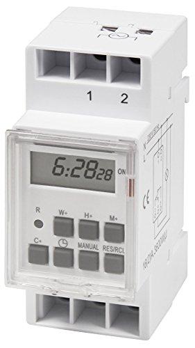 MC POWER - digitale Zeitschaltuhr | STE-3 | 7 Tage, 230V für Schalttafel-Einbau, 3600W | Zeitsteuerung von Dekolichtern, Scheinwerfern, Alarmanlagen uvam. | bequemer Schalttafel-Einbau