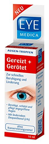 EyeMedica Gereizt+Gerötet Augentropfen| Medizinprodukt|Mit 2{1f562509549c8dd3fd1ca22f9f50570e740a8a8ff02993f1677fe7997476d74a} Dexpanthenol|beruhigt und schützt angegriffene Augen | Geeignet für Kontaktlinsenträger | ohne Konservierungsmittel | 165 Anwendungen