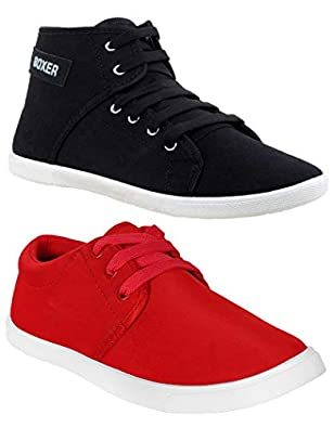 Shoefly Women Multicolour Latest Collection Sneakers Shoes- Pack of 2 (Combo-(2)-1062-1207)