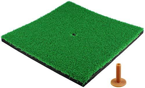Crestgolf Golf Hitting Mats Tapis de Golf SBR intérieur/extérieur avec Support en Caoutchouc pour Pratique du Practice, arrière-Cour - Vert, 12 x 12 Pouces (Short Grass)