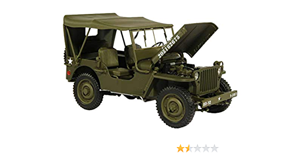 NIB VTG Gate Willy/'s Jeep WW2 Model Car 1:18 Die Cast Military World War 2