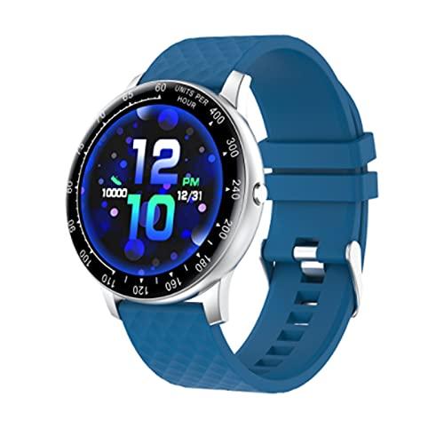 LOVOUO 2021 Nuevo Reloj Deportivo Inteligente (Seguimiento de Fitness a Prueba de Agua IP68, Monitor de presión Arterial / frecuencia cardíaca, podómetro de monitorización del sueño)