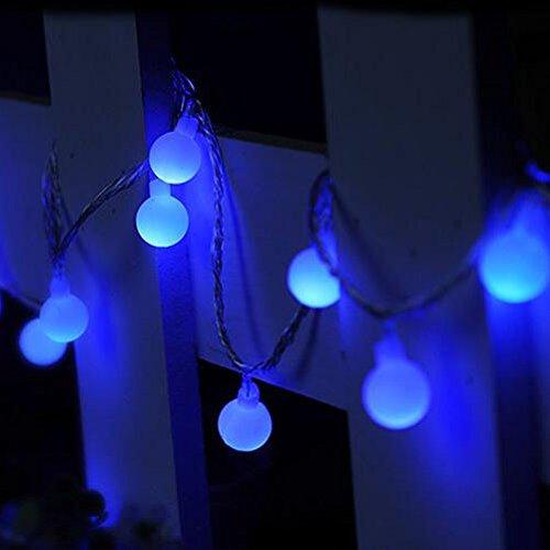 Hangqi 2 m 20 LED à piles Boule Guirlande lumineuse fête de mariage de Noël