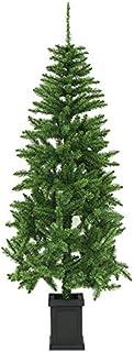 クリスマスツリー ポット付きツリー スリム リアル枝 180cm