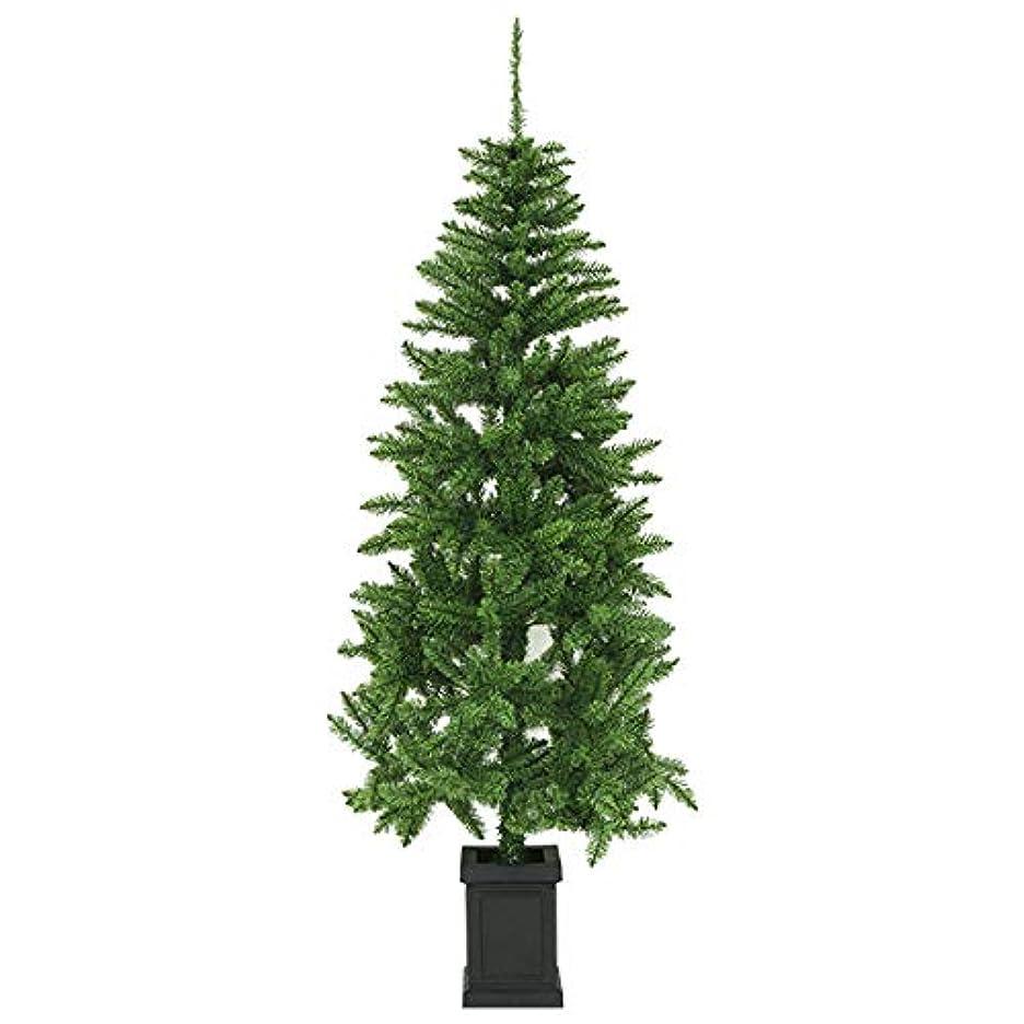 お気に入りキルト開発するクリスマスツリー ポット付きツリー スリム リアル枝 180cm