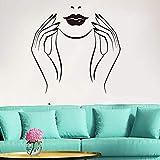 Gran Hermosa manicura Nail Art Studio salón de Belleza Nail Mujer niña Etiqueta de la Pared decoración de Vinilo -60x58cm