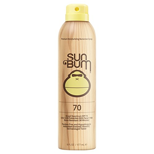Sun Bum Original SPF 70 Sunscreen Spray | Vegan and Reef Friendly (Octinoxate & Oxybenzone Free) Broad Spectrum Moisturizing UVA/UVB Sunscreen with Vitamin E | 6 oz