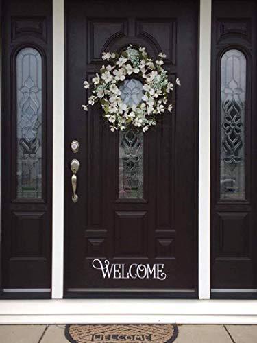 CECILIAPATER - Decalcomania da Parete con Citazione di Benvenuto in Vinile, Tipografia, Decalcomania per Porta d'ingresso, Targa di Benvenuto