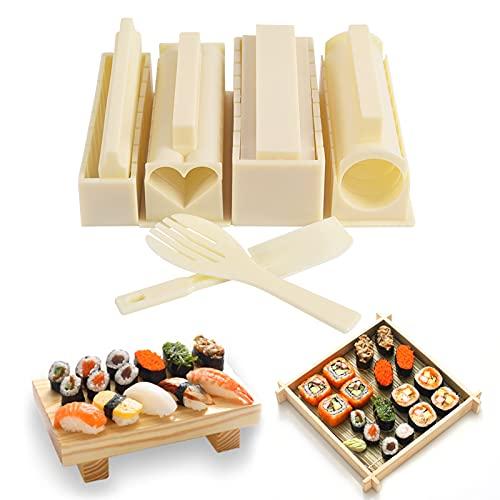 Sushi Maker Kit Completo Professionale - Kit per Preparare Sushi da 10 Pezzi, Set Completo Di Utensili Per Sushi Con Rullo Per Stampi, DIY Sushi Making Machine Accessori cucina Strumento