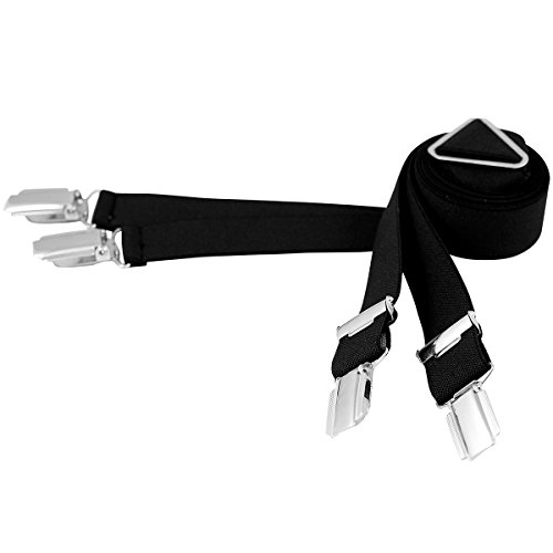 Lindenmann Mens Braces/Suspenders/mens suspenders, X-shape, 25 mm stetch, XXL, black, 9155-007, Größe/Size:110