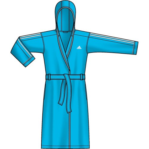 adidas Bademantel Bathrobe Women lightaqua, Größe:S