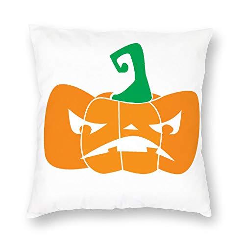 Kissenbezug ohne Marke, kurzer Kissenbezug aus Plüsch, orangener Kürbis, mit verstecktem Reißverschluss, bequem, quadratisch, für Schlafzimmer, Sofa, 45,7 x 45,7 cm