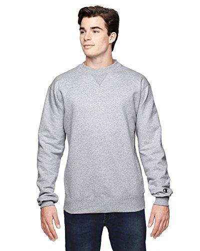 Cotton Max Crew Sweatshirt, Grey, XL