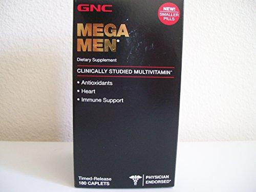 GNC Mega Men 180 Caplets - New Formula