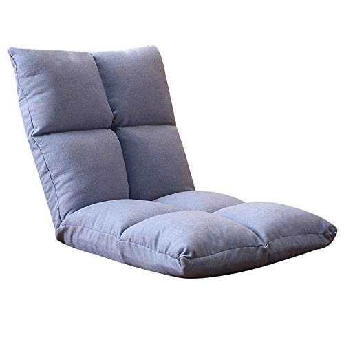 LJFYXZ Canapé Paresseux Chaise Seul Petit canapé Réglage à 5 Vitesses Facile à enlever et à Laver Coton et Lin Chaise d'ordinateur Salon Chambre Tapis (Couleur : Bleu)
