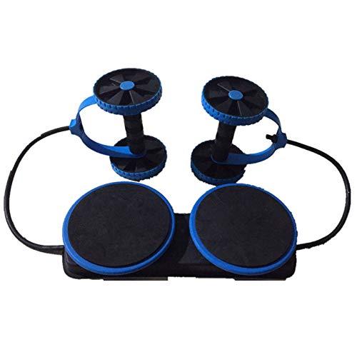 Male god Männlicher Gott AB Wheels Roller Double Stretch Elastic Abdominal Resistance Zugseilwerkzeug AB Roller Für Bauchmuskeltrainerübungen (Color : Blue)
