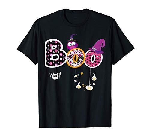 Boo Halloween Kostüm Spinnen Geister Hexe & Hut Kürbis T-Shirt