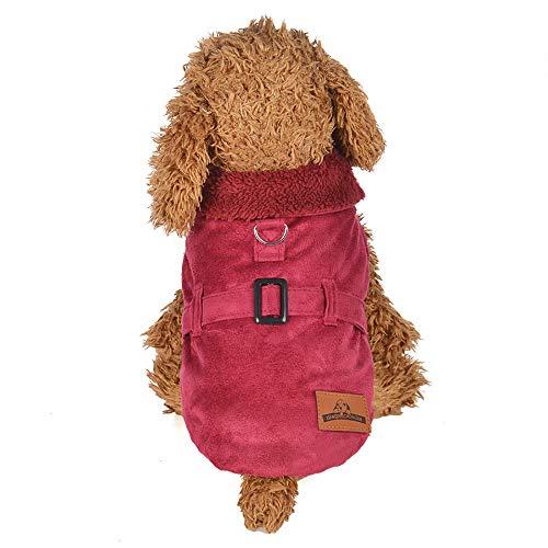 Gepolsterte Verdickung Nachahmung Hirsch Lederjacke Hundekostüme Pet Kleidung YunYoud Hundemantel Warm Wintermantel Haustier Mantel Hundekleidung Für Kleine Hunde Pullover
