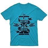 fm10 – Camiseta más tiempo que vida vintage reloj de arena Tempo Gift Frasi Frase Look azul turquesa X-Small