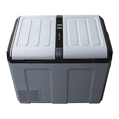 NMSLA 52L Mini refrigerador Coche Refrigerador Compresor Pequeño congelador Pequeño congelador Vehículo con Temperatura Digital Pantalla de Carro de automóvil Mini refrigerador eléctrico