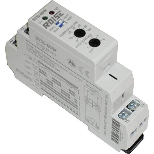 RO/SE STH-60W Schaltschrank-Thermostat-FH 0-60°C mit 3m Sensor, 2 Kontaket Öffnen+Schließen