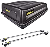 JEGS 90098K3 Rooftop Cargo Carrier & Roof Rack Cross Bar Kit Includes:...