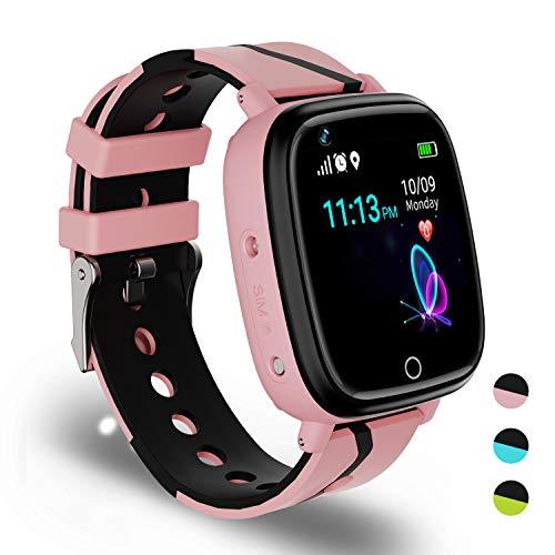 Smartwatch Niños - Reloj Inteligente con Comunicación Bidireccional Linterna GPS/LBS SOS Deporte Aprendizaje al Aire Libre Relojes Inteligentes Juegos de Cámara Alarma Reloj de Pulsera Smart Watch