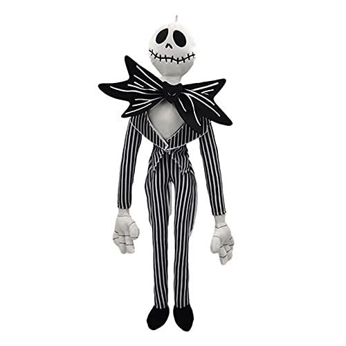 Halloween La pesadilla antes de Navidad Jack Skellington Skeleton Película de peluche juguetes Regalo de graduación 50 cm