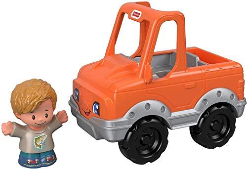 Fisher-Price Mattel – GGT36 Little People – Fischer und Fahrzeug – Set mit Little People Figur und Fahrzeug