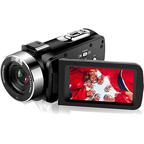 Videocamere Videocamera Full HD 1080P 30 FPS IR Night Vision Videocamera da 20 pollici IPS Schermo 16X Digital Zoom Videocamera Digitale con Telecomando