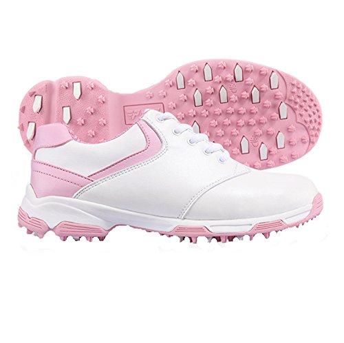 PGM , Chaussures de Golf pour Homme - Rose - Blanc/Rose, 37...