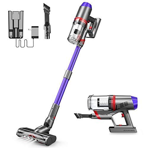 Cordless Vacuum Cleaner, ONSON Powerful Suction Stick Vacuum 4 in 1 Handheld Vacuum for Home Hard Floor Carpet Pet Hair, Lightweight