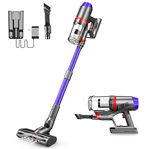 Cordless Vacuum Cleaner, ONSON Powerful Suction Stick Vacuum 4 in 1 Handheld Vacuum for Home Hard Floor Carpet Pet Hair, Lightweight