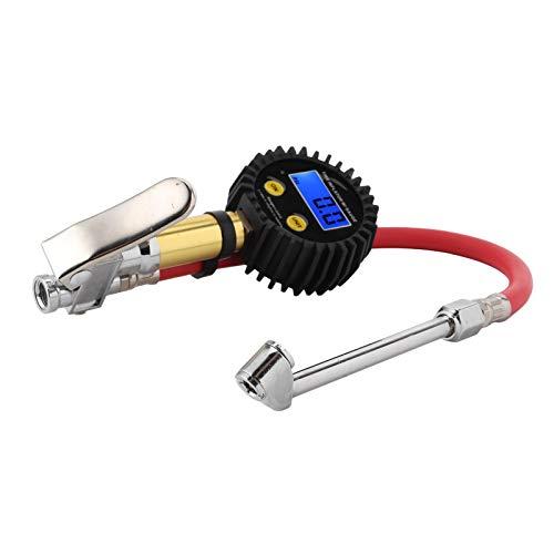 Medidor de presión de llantas, 3-200PSI Inflador de llantas digital universal Medidor de presión de llantas de alta sensibilidad para probador de presión de llantas para autos y motocicletas