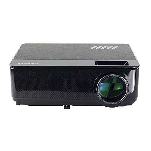 Gzunelic 7000 lumens Native 1080p LED Video Projector ± 50° 4D Keystone X / Y Zoom 8000:1 Contrast Built in HI-FI Stereo Sound Box Full HD Home Theater Proyector