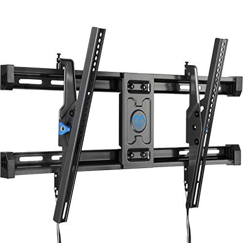 PERLESMITH Tilt TV Wall Mount Bracket for 40-82 Inch LED LCD OLED 4K Curved Flat Screen TVs-12°Advanced Tilting TV Mount with VESA 600x400mm up to 135 LBS-Easily Adjust Level PSLT4