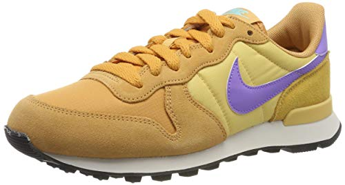 Nike Damen WMNS Internationalist Laufschuhe, Mehrfarbig (Copper Moon/Atomic Violet/Celestial Gold/Aurora Green/Phantom 801), 38 1/2 EU
