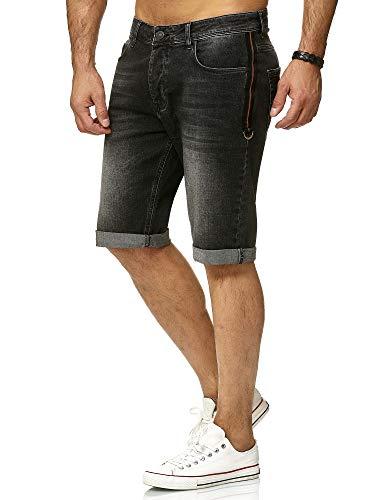 Redbridge Herren Denim Jeans Shorts Kurze Hose Vintage Bermuda Casual Basic Jeansshorts, Schwarz,34W