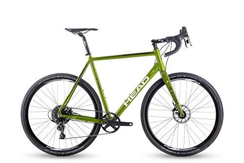 Head Bike Gravel, Bicicletta Gioventù Unisex, Verde Opaco, 28/58cm