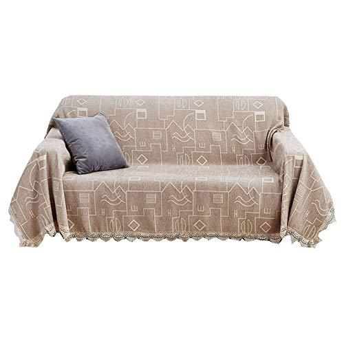 ZHFEL Funda para sofá Suave,Universal Cubre Sofa para 3 Plazas Protector para Muebles Antideslizante AntiArañazos Lavable Funda de sofá para Sala Dormitorio-180x230cm(70'x90')-F