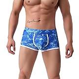 Ejiao Homme Homme Mode Panties Respirant sous-vêtements Sexy Impression Shorts...