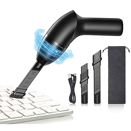 HONKYOB Keyboard Cleaner Computer Vacuum Cleaners Mini Vacuum with LED Light,Cordless Desk Vacuum Cleaner USB Rechargeable,for Cleaning Dust,Hair,CrumbsCigarette Ash,Car,Pet House,4kPa