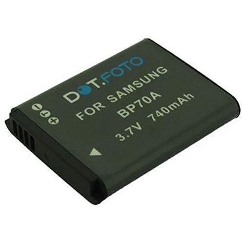 Dot.Foto reemplaza batería original de Samsung BP-70A - 3.7V/740mAh [Vea compatibilidad en la descripción]