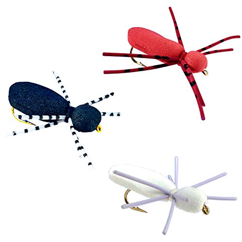 Thor Outdoor Foam Spider - 3 Pc Topwater Fly Fishing Set for Bass,...