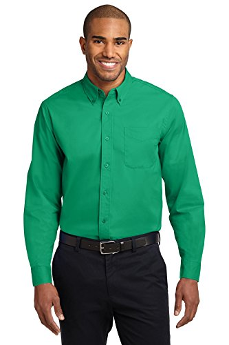 Port Authority Long Sleeve Easy Care Shirt, Court Green, X-Large