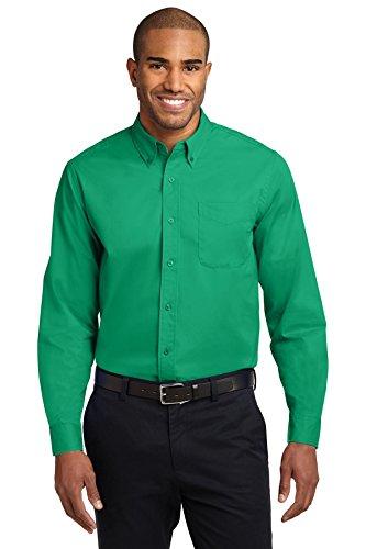 Port Authority Easy Care Men Dress Shirts Long Sleeve – 55/45 PolyCotton – XS
