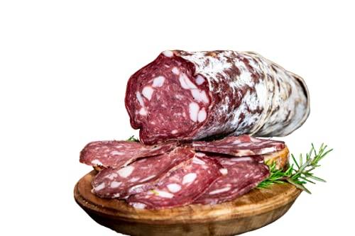 Salame Toscano 1kg | Gusto in Tasca | Salumi Gourmet 100% Artigianali | Gusto e Sapore | Ricetta Tradizionale | Made in Italy | Specialità Italiana | Prodotto Tipico Toscano