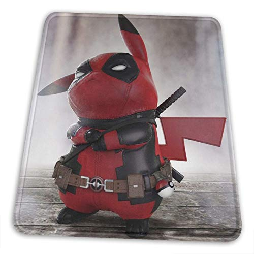 Pikachu Gaming Mouse Pad Large 11.81 X 9.84 X 0.12 Inches Stitched Edges Waterproof Pixel-Perfect Accuracy Optimized for All Computer Mouse Sensitivity and Sensors